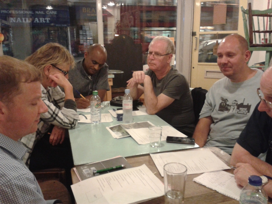 WFCC members sitting around the table at our meeting