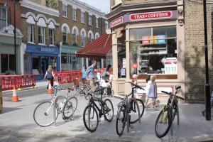 Orford Rd bakers & cycle parking