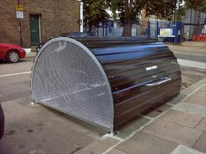Bike Hanger: secure and covered on street cycle parking