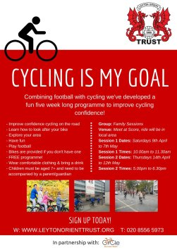 Cycling is my Goal Flyer Families - PDF