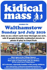 Kidical Mass July 2016